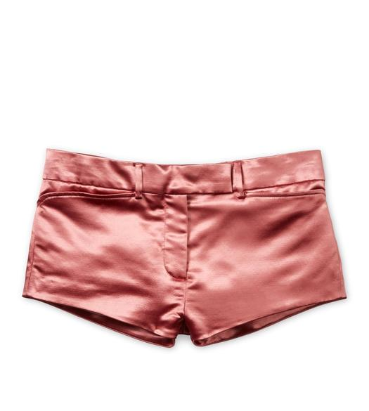 MILITARY SATIN MINI SHORTS