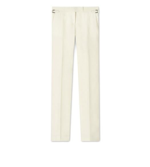 LINEN STRAIGHT FIT TROUSER
