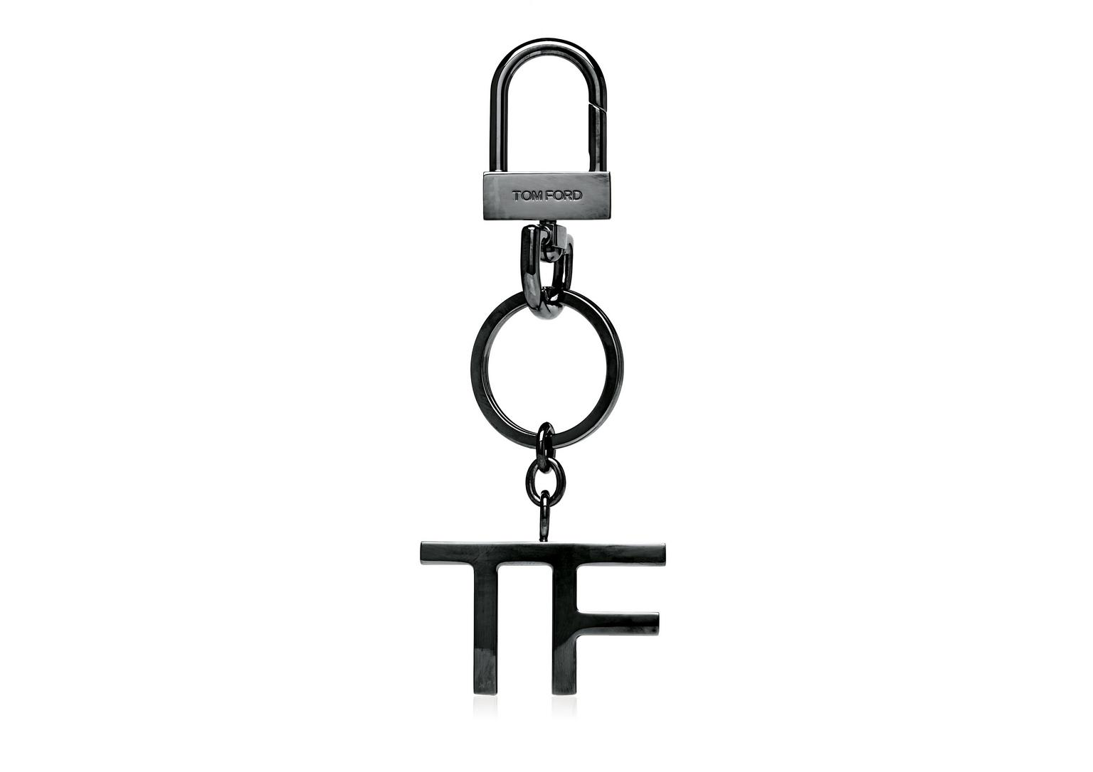 Tom Ford Tf Logo Key Ring Ruthenium Modesens
