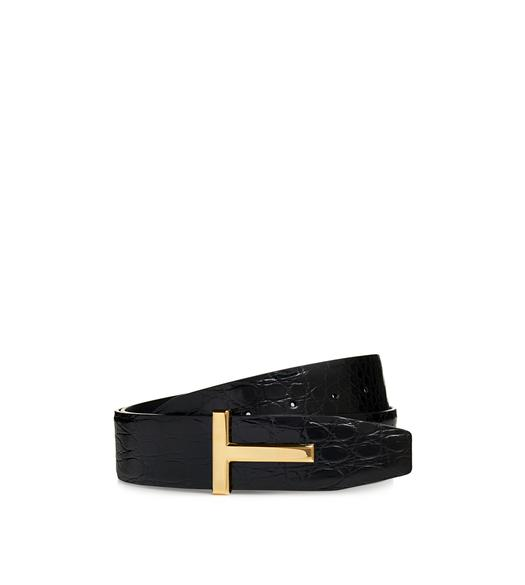 GOLD CROCODILE ICON BELT