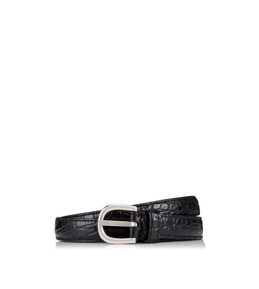 SLIM ALLIGATOR BELT