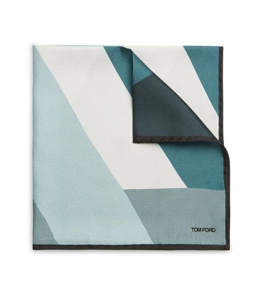 ABSTRACT ANGLE POCKET SQUARE