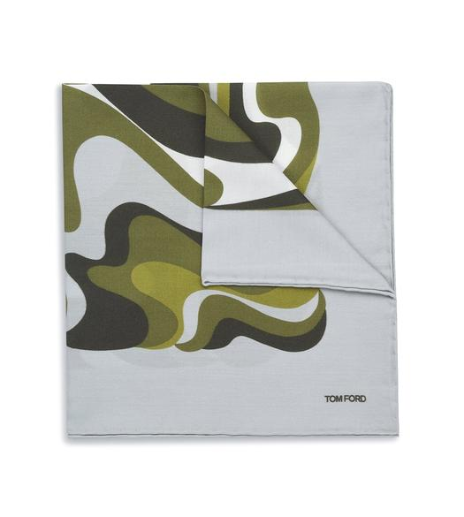 ABSTRACT SWIRL PRINT CLASSIC POCKET SQUARE