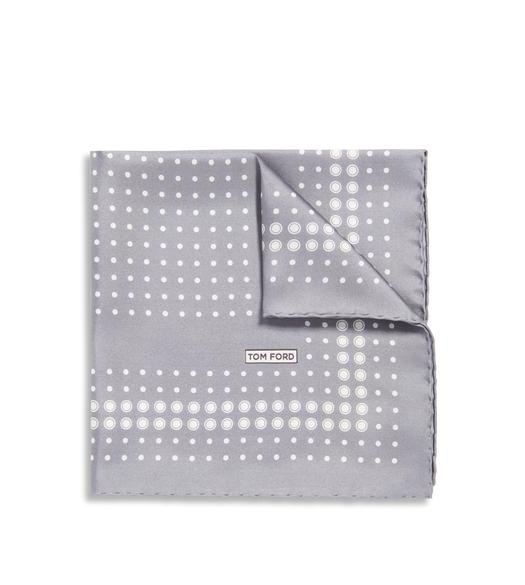 POLKA DOT PRINT SILK POCKET SQUARE
