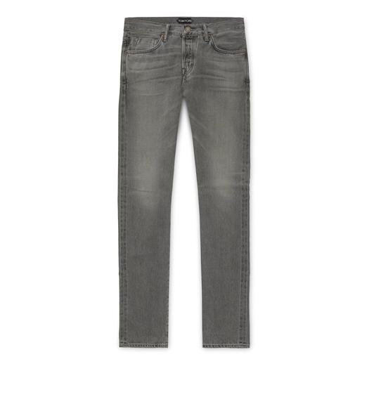 GREY WASHED SELVAGE DENIM SLIM