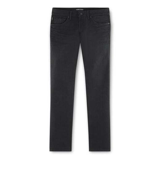 STRAIGHT BLACK SELVAGE JEANS