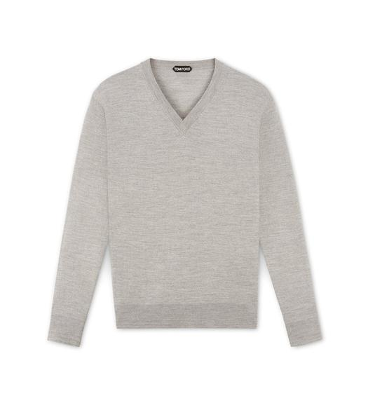 MERINO GREY V-NECK