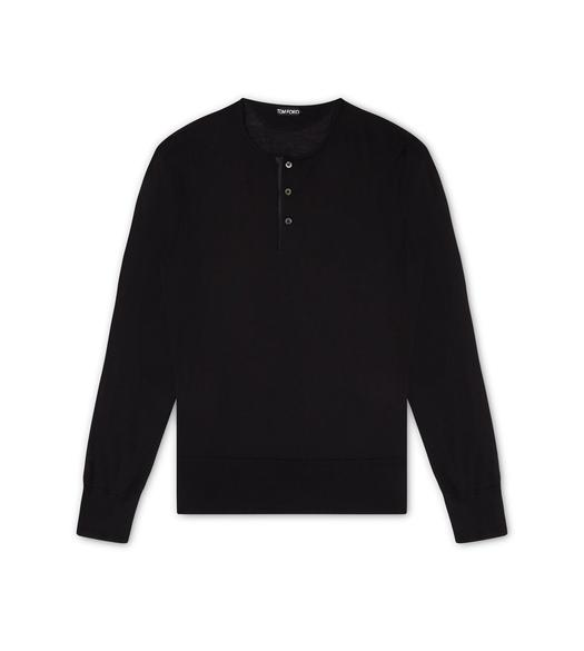SUPERFINE CASHMERE LONG-SLEEVED HENLEY