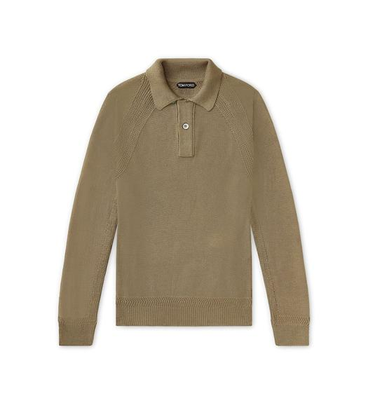 WILD SILK LONG-SLEEVED POLO