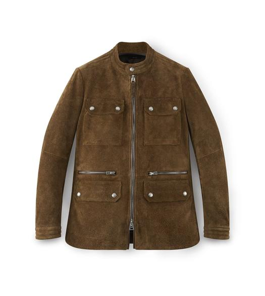 SUEDE ZIP MOTORCYCLE JACKET