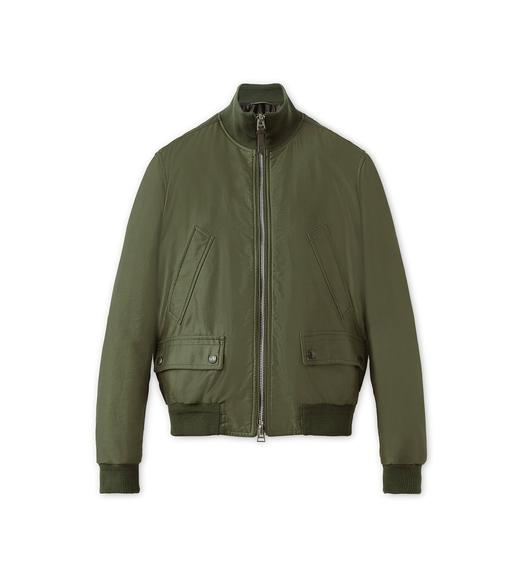 SATIN PEACHED TWILL LIGHT FILL BLOUSON