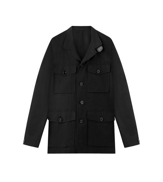 SILK BLEND FOUR POCKET MILITARY JACKET