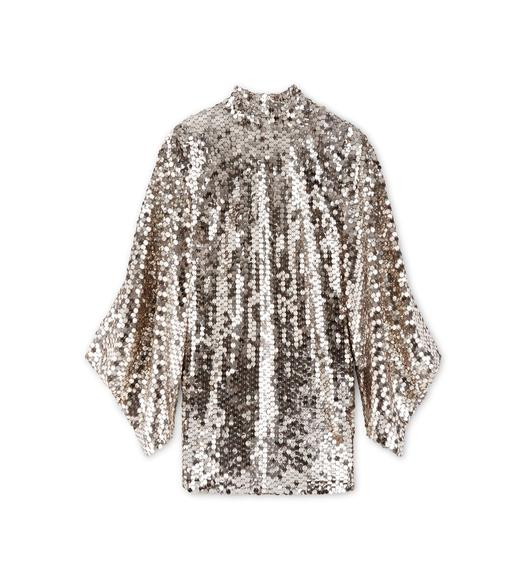 OPEN BACK SEQUIN TUNIC