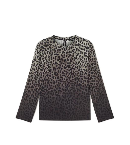 JAGUAR SABLE TWISTED NECK LONG SLEEVE TOP