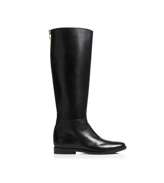 Nappa Stretch Leather Metal Stiletto Over-The-Knee Boot