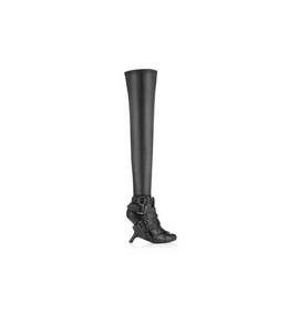 THIGH HIGH BUCKLE BOOT