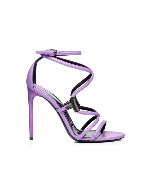 LEATHER T BAR STRAPPY SANDAL