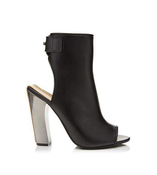 CAMARGUAISE OPEN TOE ANKLE BOOT