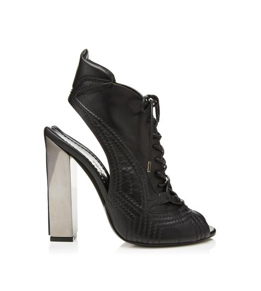 RUTHENIUM LACE UP OPEN TOE SANDAL BOOT