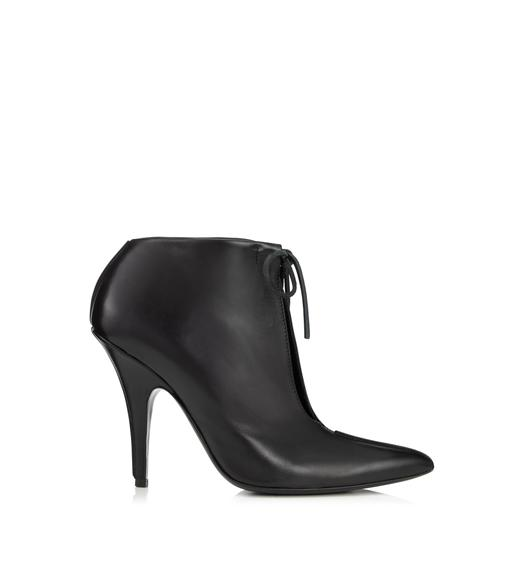 LEATHER ELLIPSE ANKLE BOOT