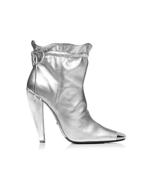 METALLIC COULISSE ANKLE BOOT