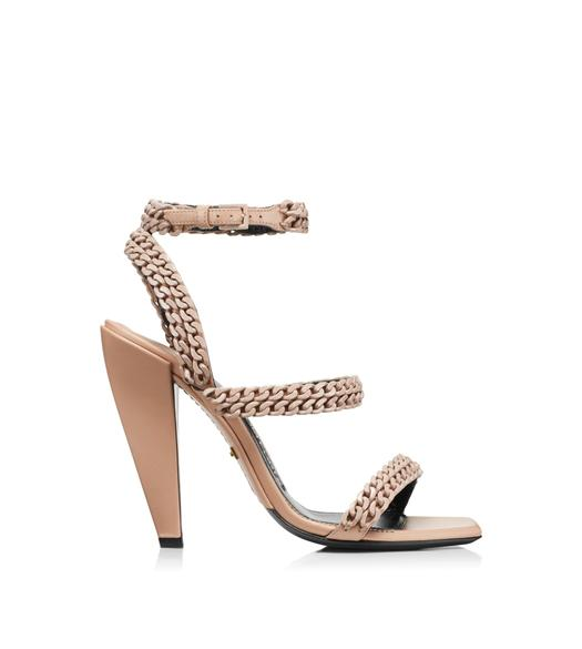 SQUARE TOE CHAIN SANDAL