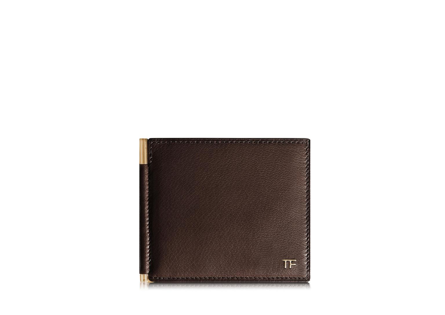 Tf Leather Money Clip Bifold Wallet