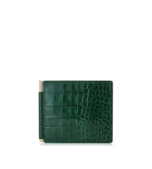 MONEY CLIP ALLIGATOR WALLET