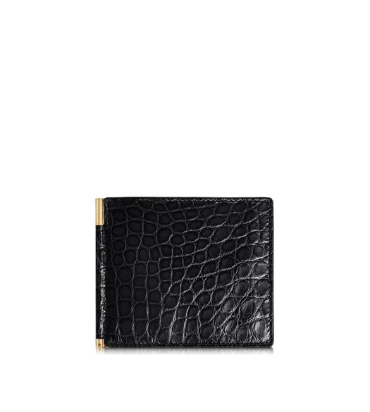 Alligator Money Clip Bifold Wallet