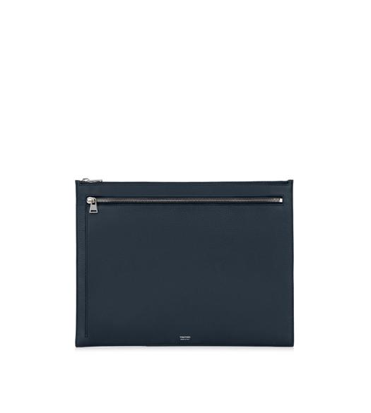 GRAINED LEATHER FLAT PORTFOLIO