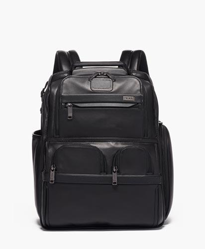 Compact Laptop Brief Pack Leather