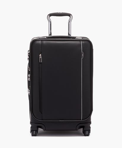 International Dual Access 4 Wheeled Carry-On Leather
