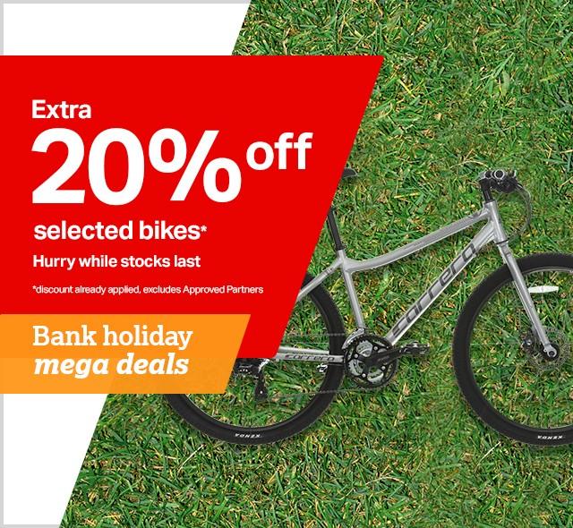 20 percent off selected bikes