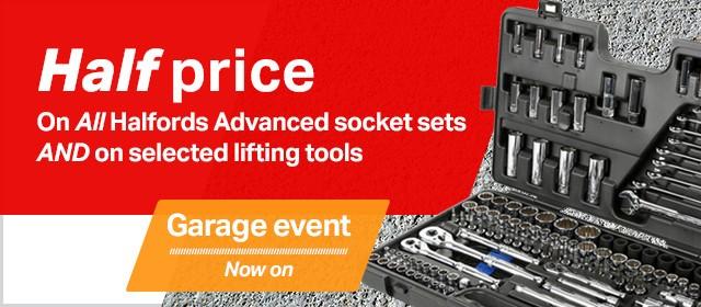 Half Price deals on the Garage Event