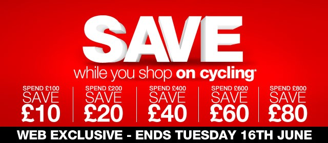 Spend & Save on all Cycling