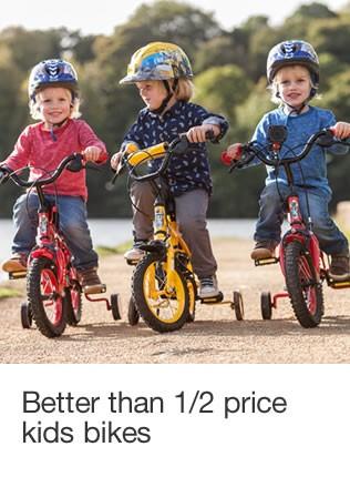 Better than half price kids bikes