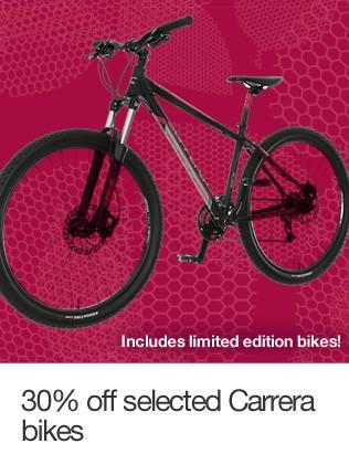 30% off selected Carrera bikes