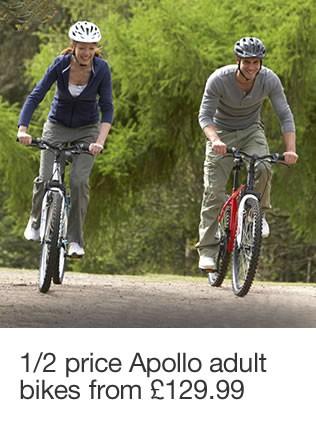 1/2 price Apollo adult bikes