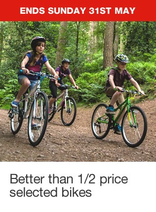 Better than 1/2 price on selected adult & kids bikes