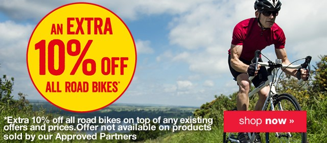 10% off all Road bikes