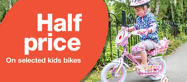 Half price on selected Kids Bikes