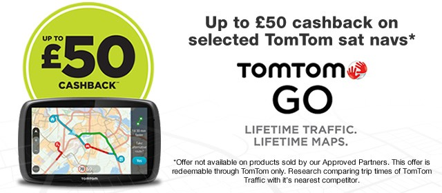 Tomtom cashback offer