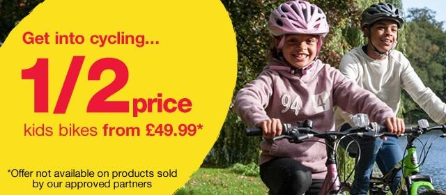 1/2 price kids bikes