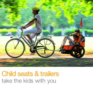 1/2 price child seats & trailers