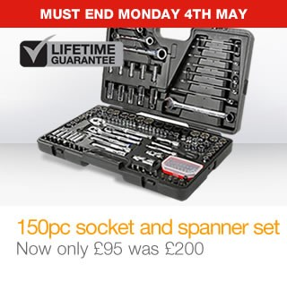 150pc socket & spanner set