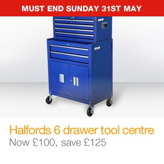 Halfords Professional 6 Drawer