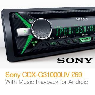Sony CDX-G31000UV now �69, save �20.99