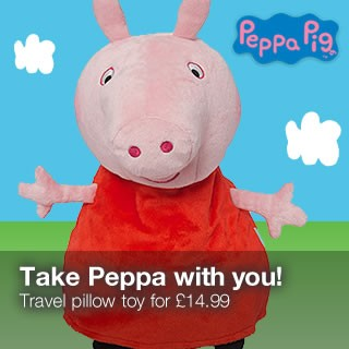 Peppa pig travel pillar