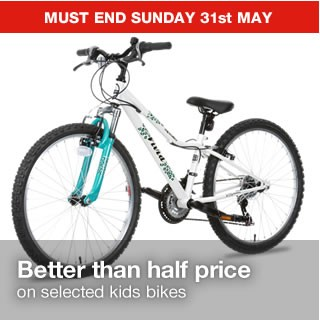 Better than half price on selected Junior bikes