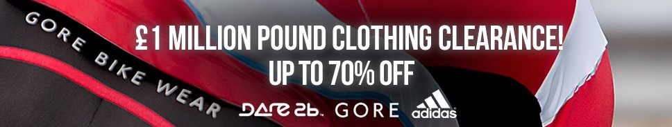 £1 million pound clothing clearance up to 70% off on selected Adidas, Gore, Dare 2b and more